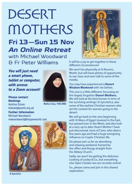 An online retreat with Michael Woodward, LCSB & Fr Peter Williams, Worth Abbey